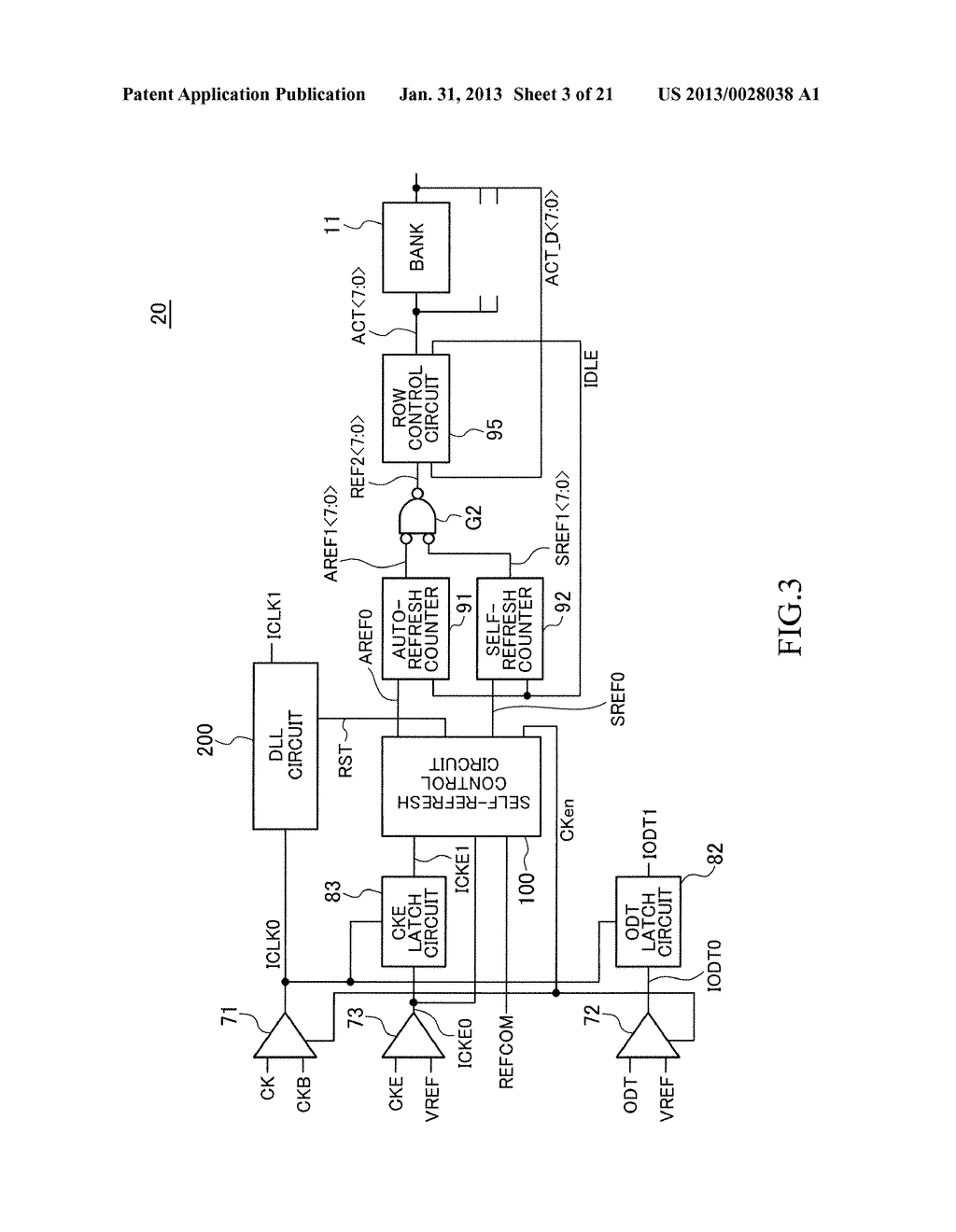 INFORMATION PROCESSING SYSTEM INCLUDING SEMICONDUCTOR DEVICE HAVING     SELF-REFRESH MODE - diagram, schematic, and image 04