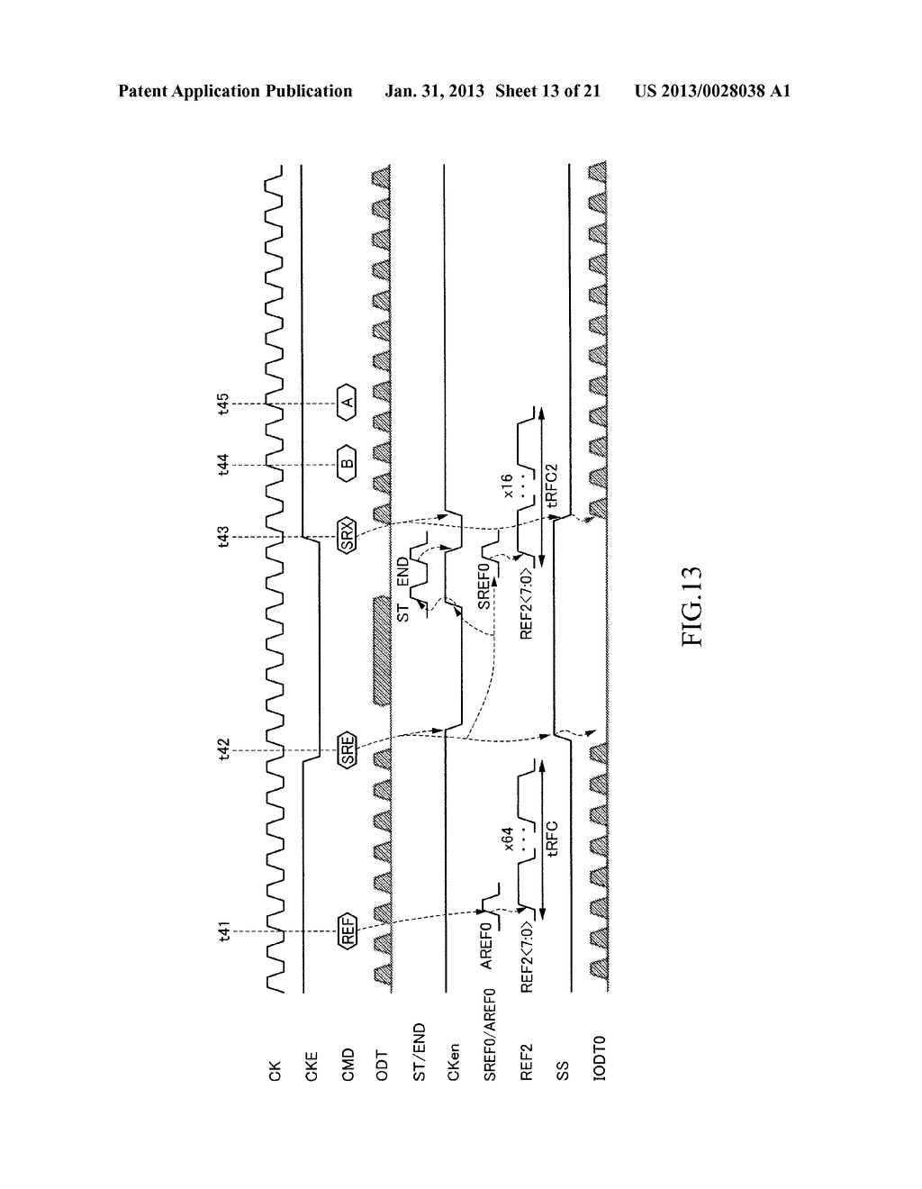 INFORMATION PROCESSING SYSTEM INCLUDING SEMICONDUCTOR DEVICE HAVING     SELF-REFRESH MODE - diagram, schematic, and image 14