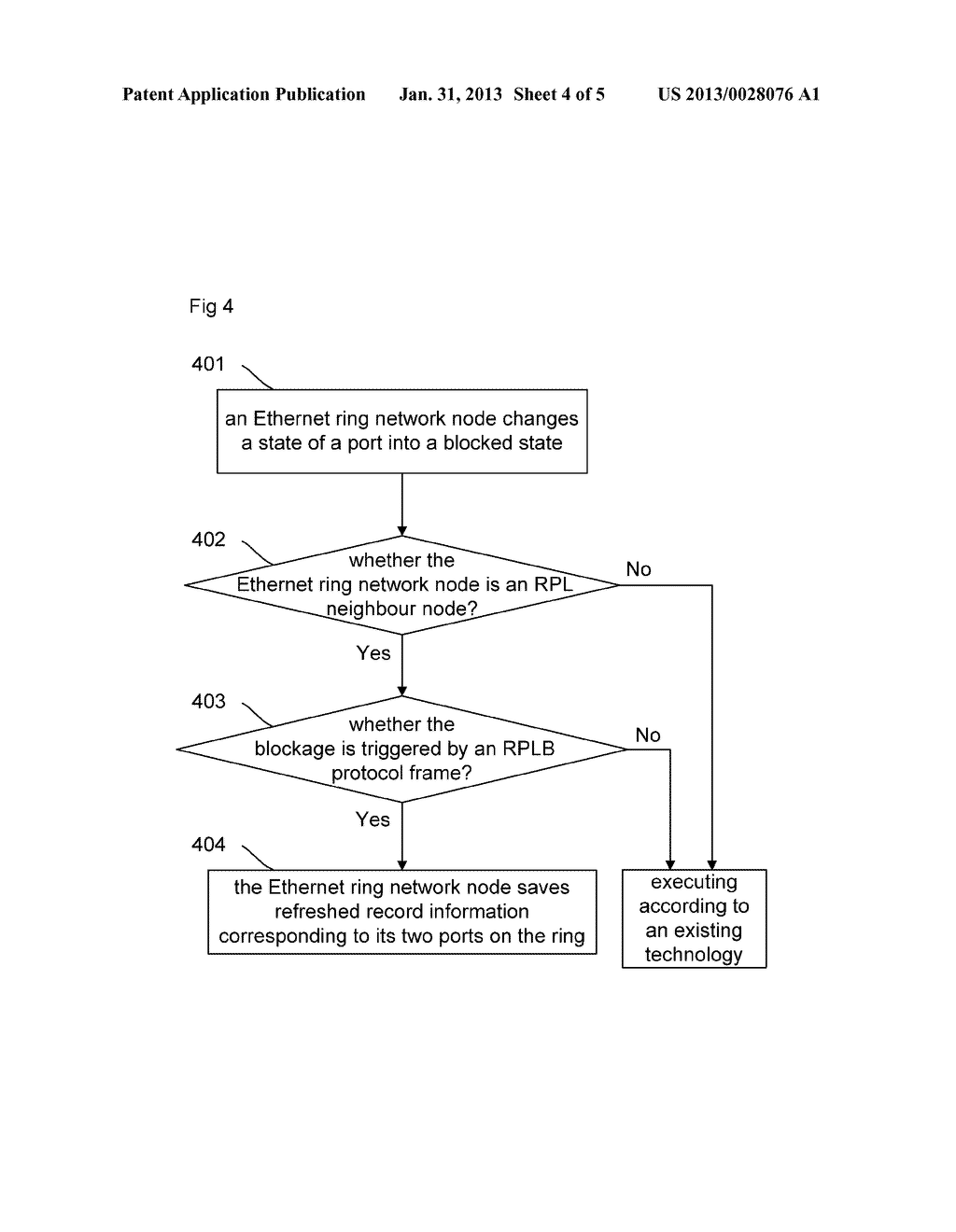 Method and Device for Preventing Repeated Refreshing of Address Table of     Ethernet Ring Network Node - diagram, schematic, and image 05