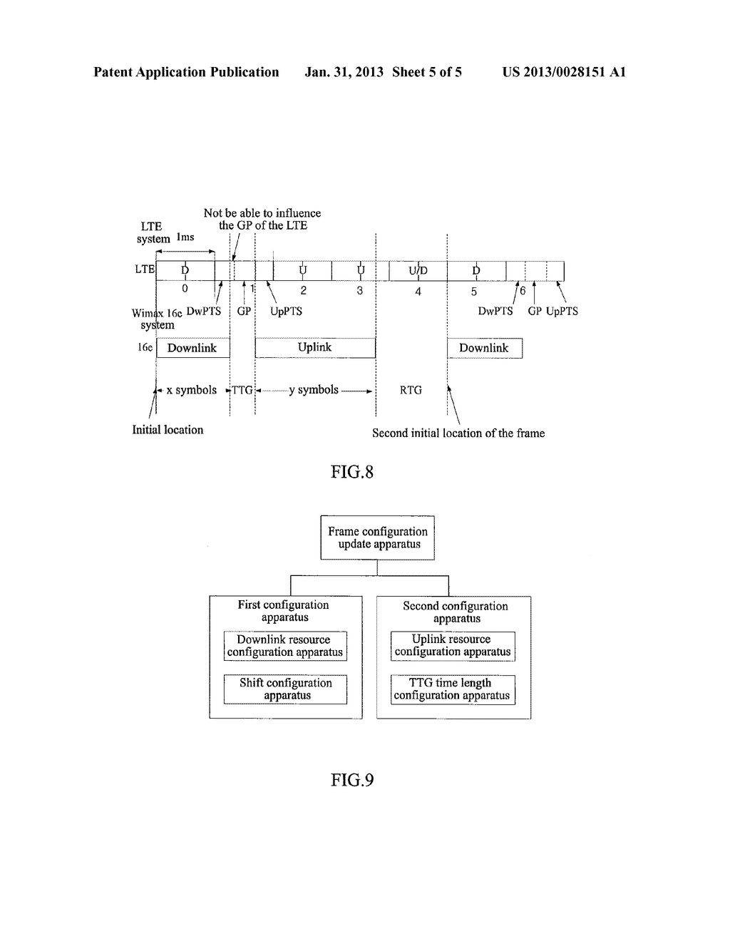 METHOD AND SYSTEM FOR PHYSICAL RESOURCES CONFIGURATION AND SIGNAL     TRANSMISSION WHEN COMMUNICATION SYSTEMS COEXIST - diagram, schematic, and image 06