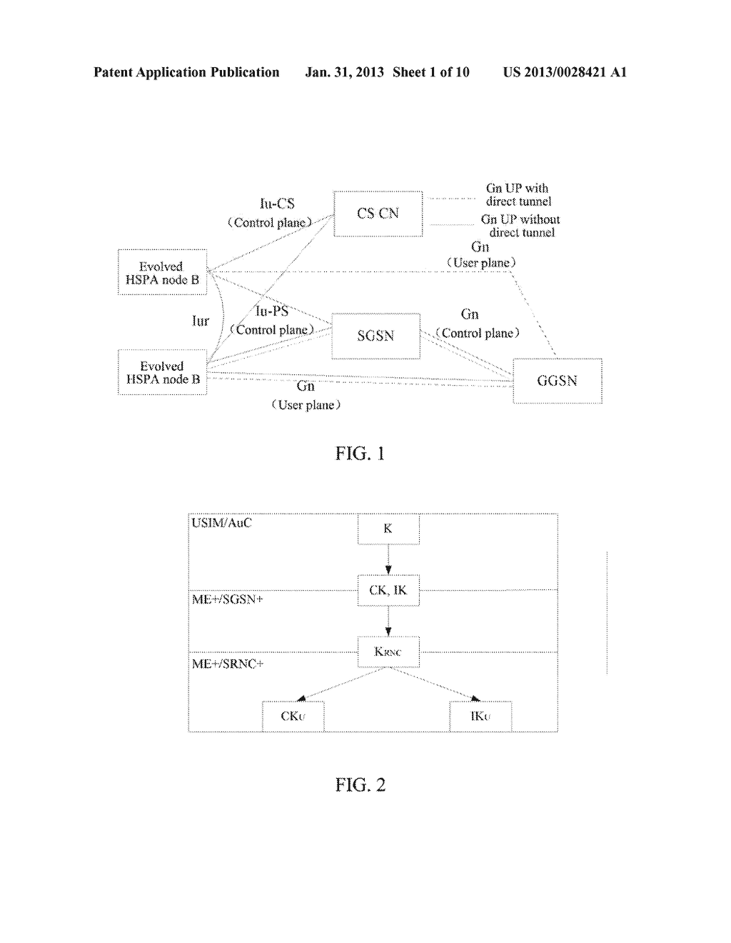 Method and System for Establishing Enhanced Key when Terminal Moves to     Enhanced Universal Terrestrial Radio Access Network (UTRAN) - diagram, schematic, and image 02