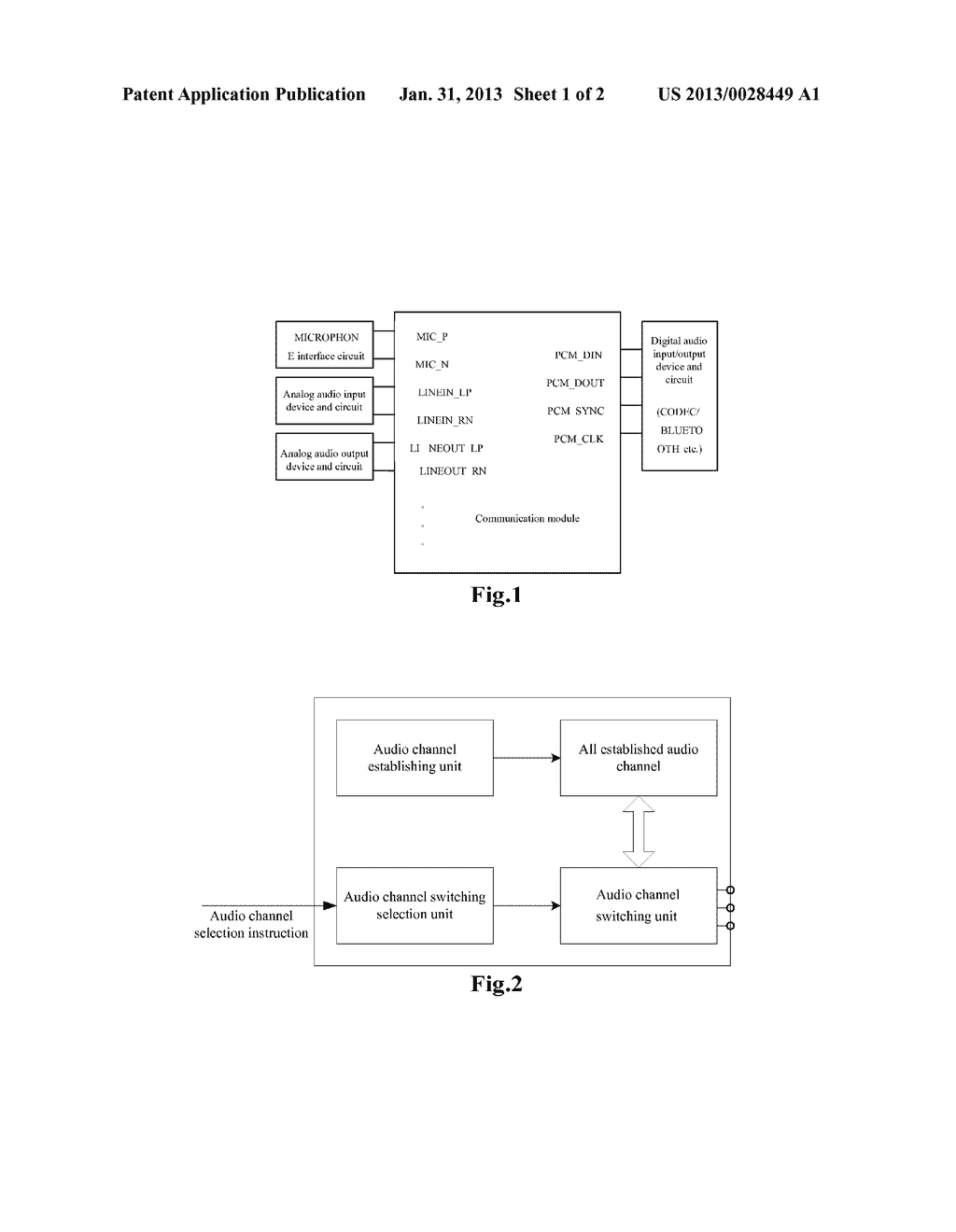 Method and Apparatus for Switching Audio Channels of Communication Module - diagram, schematic, and image 02