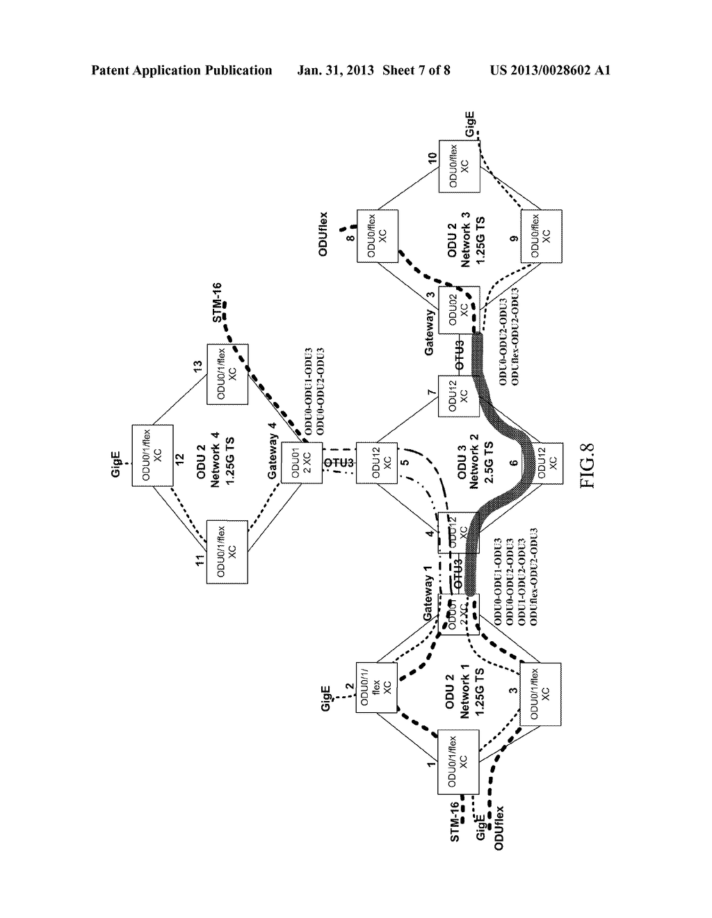 METHOD AND SYSTEM FOR ESTABLISHING END-TO-END SERVICE AND OPTICAL     TRANSPORT NETWORK - diagram, schematic, and image 08