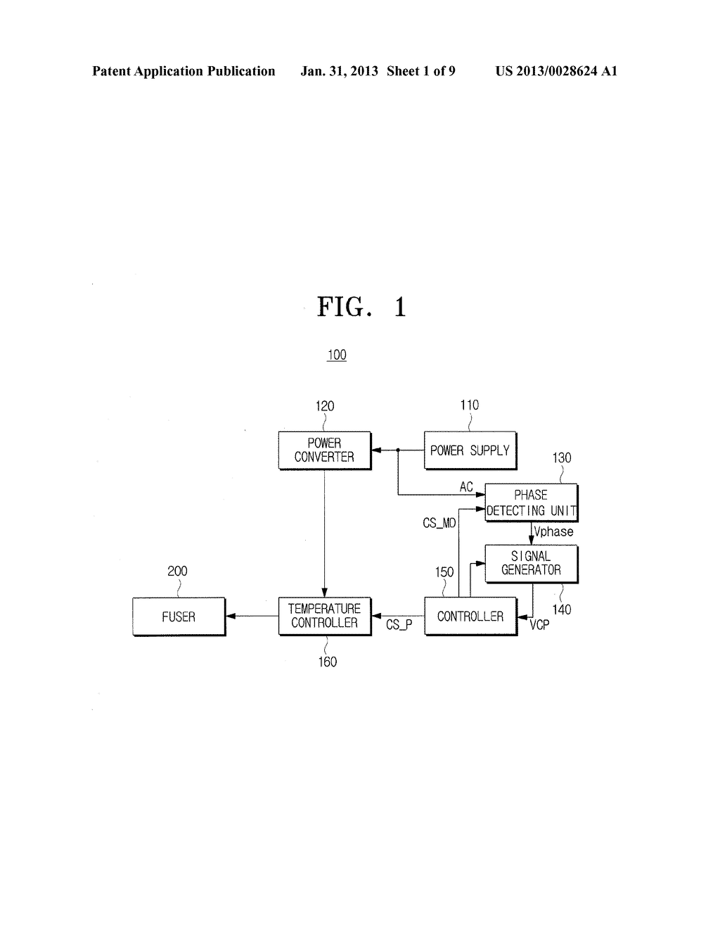 PHASE DETECTING DEVICE, PHASE CONTROL DEVICE INCLUDING THE PHASE DETECTING     DEVICE, AND FUSER CONTROL DEVICE INCLUDING THE PHASE CONTROL DEVICE - diagram, schematic, and image 02