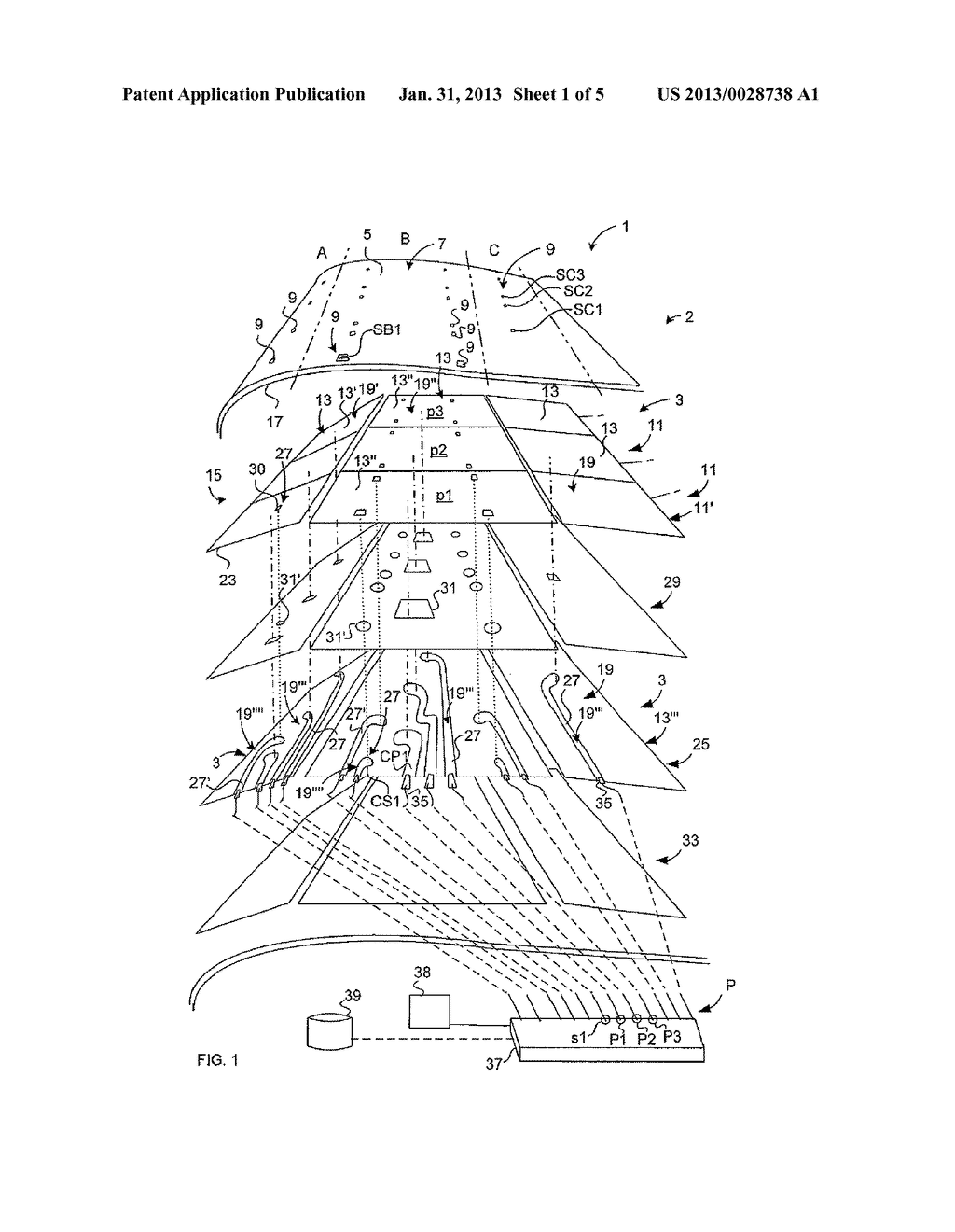 MULTIFUNCTIONAL DE-ICING/ANTI-ICING SYSTEM OF A WIND TURBINE - diagram, schematic, and image 02