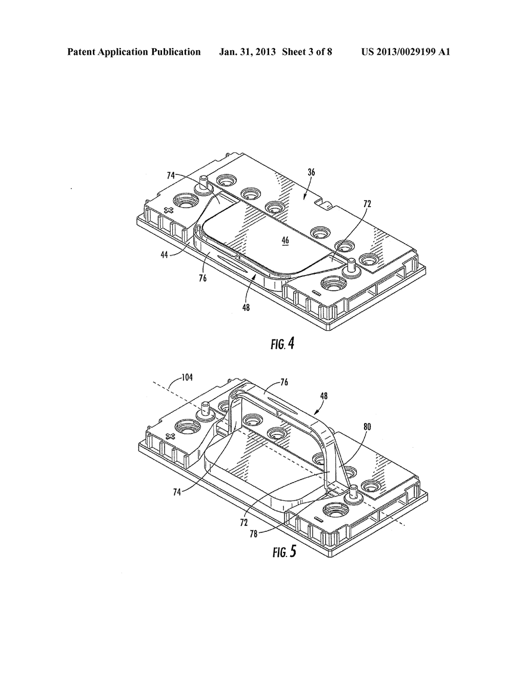 BATTERY HANDLE AND COVER WITH PIVOT CAM FEATURE, AND METHOD OF ASSEMBLY - diagram, schematic, and image 04