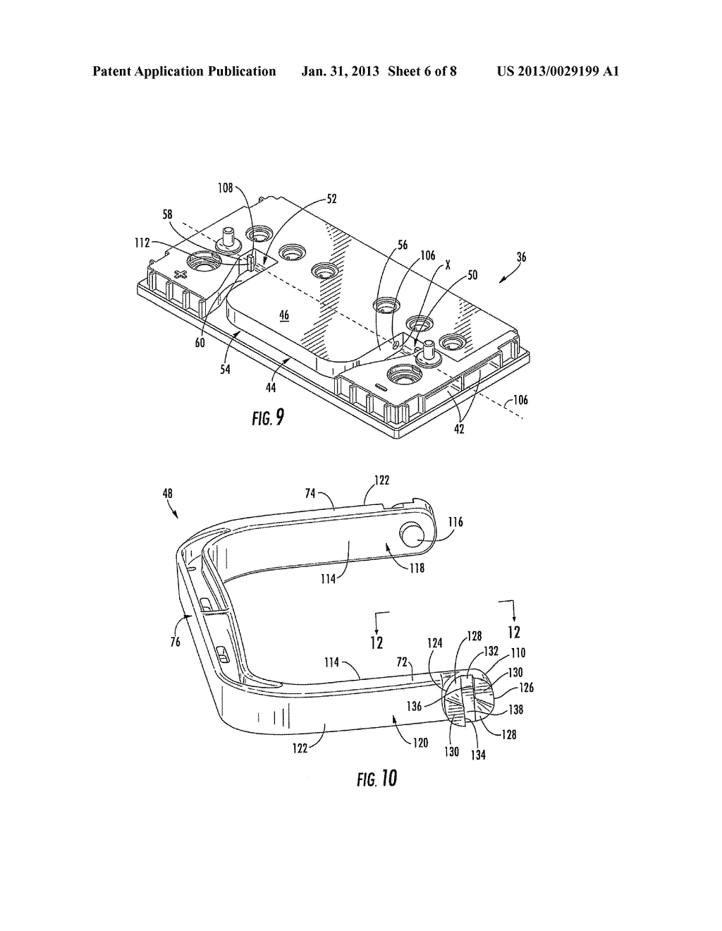 BATTERY HANDLE AND COVER WITH PIVOT CAM FEATURE, AND METHOD OF ASSEMBLY - diagram, schematic, and image 07