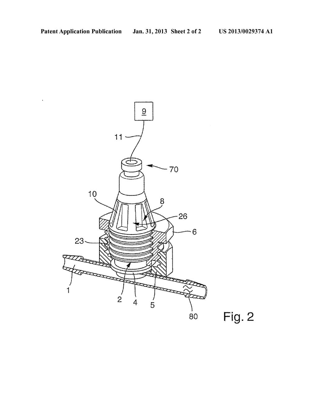 METHOD AND MEASURING POINT FOR MEASURING AT LEAST ONE PHYSICAL AND/OR     CHEMICAL, PROCESS VARIABLE OF A MEASURED MEDIUM CONTAINED IN A SINGLE USE     CONTAINER - diagram, schematic, and image 03