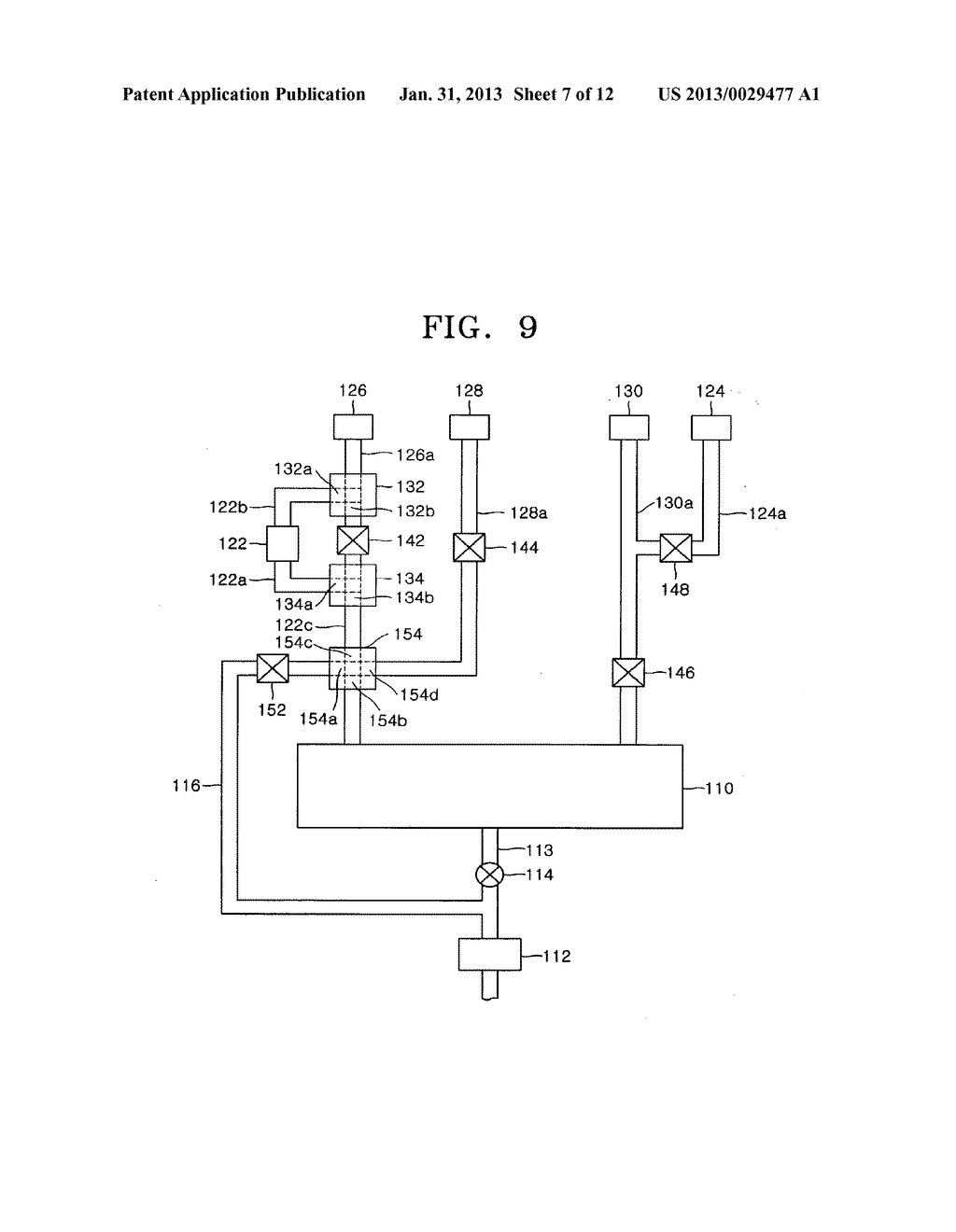 APPARATUS INCLUDING 4-WAY VALVE FOR FABRICATING SEMICONDUCTOR DEVICE,     METHOD OF CONTROLLING VALVE, AND METHOD OF FABRICATING SEMICONDUCTOR     DEVICE USING THE APPARATUS - diagram, schematic, and image 08