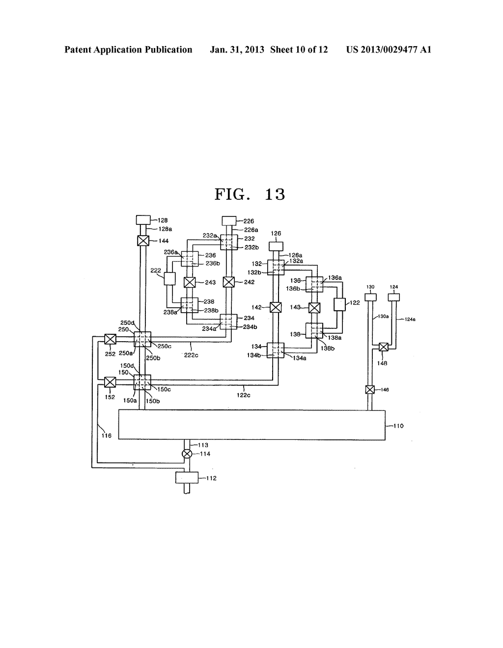 APPARATUS INCLUDING 4-WAY VALVE FOR FABRICATING SEMICONDUCTOR DEVICE,     METHOD OF CONTROLLING VALVE, AND METHOD OF FABRICATING SEMICONDUCTOR     DEVICE USING THE APPARATUS - diagram, schematic, and image 11