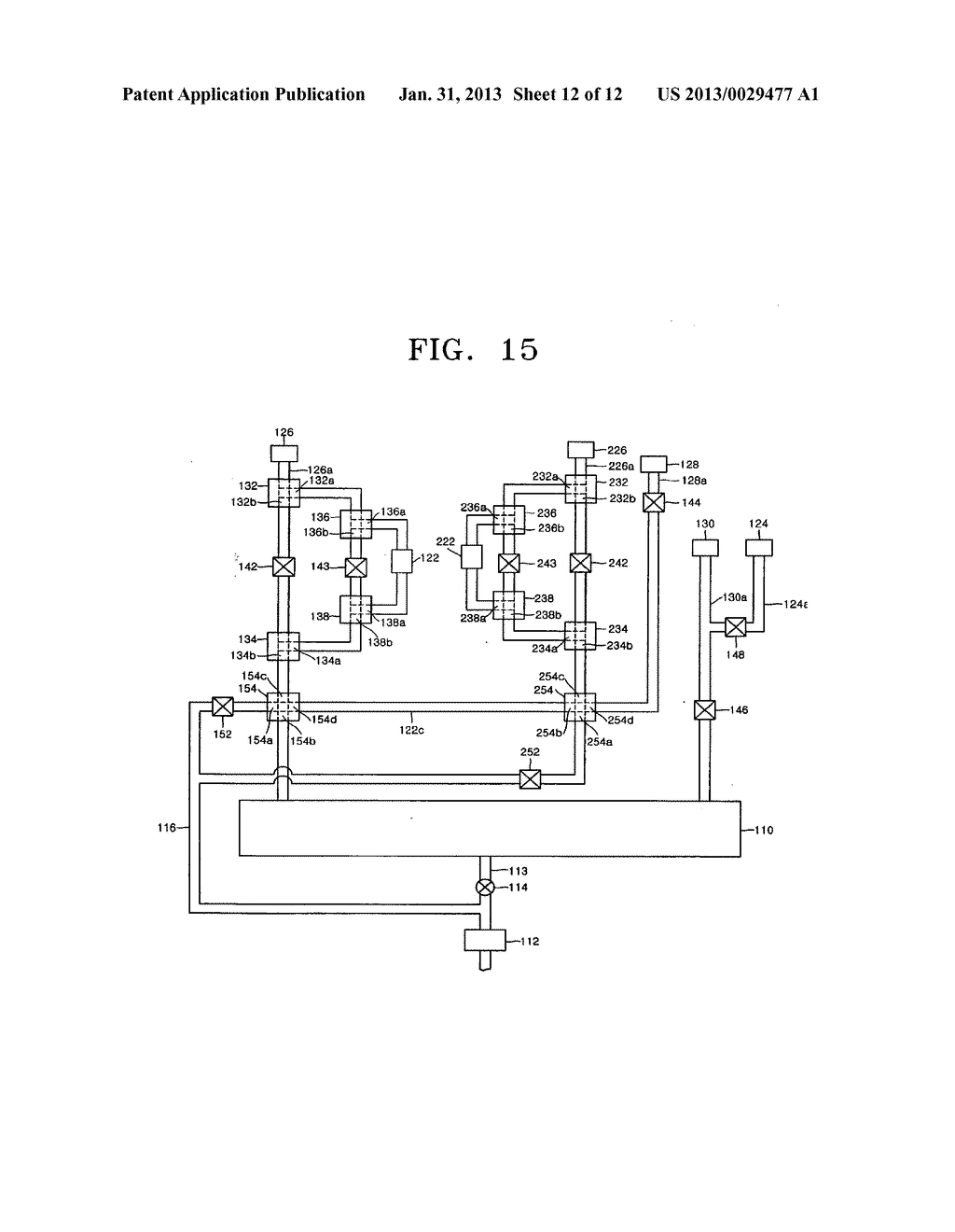 APPARATUS INCLUDING 4-WAY VALVE FOR FABRICATING SEMICONDUCTOR DEVICE,     METHOD OF CONTROLLING VALVE, AND METHOD OF FABRICATING SEMICONDUCTOR     DEVICE USING THE APPARATUS - diagram, schematic, and image 13