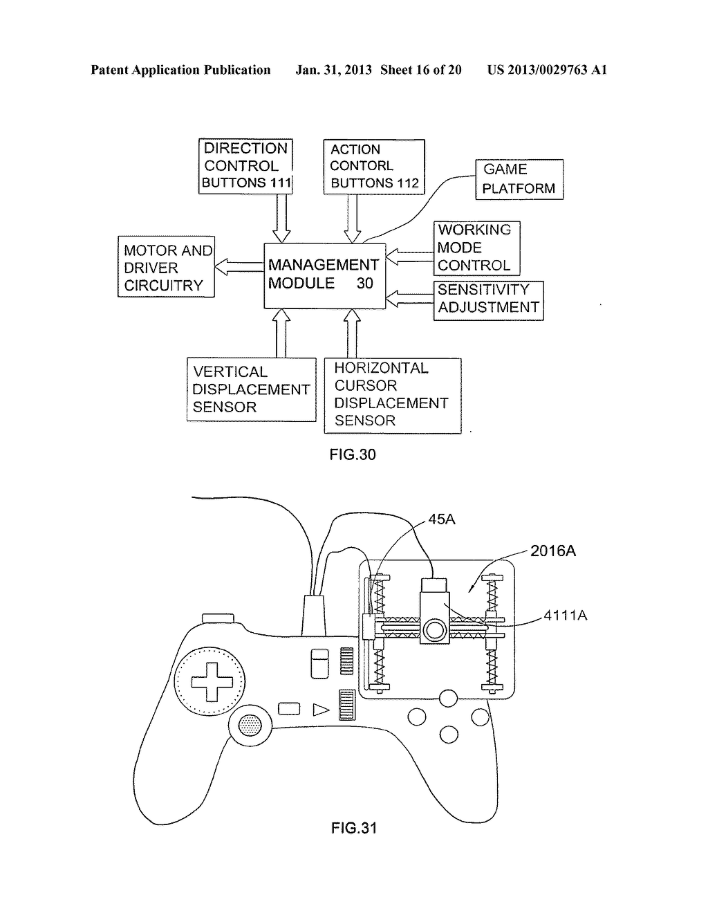 Game controller - diagram, schematic, and image 17