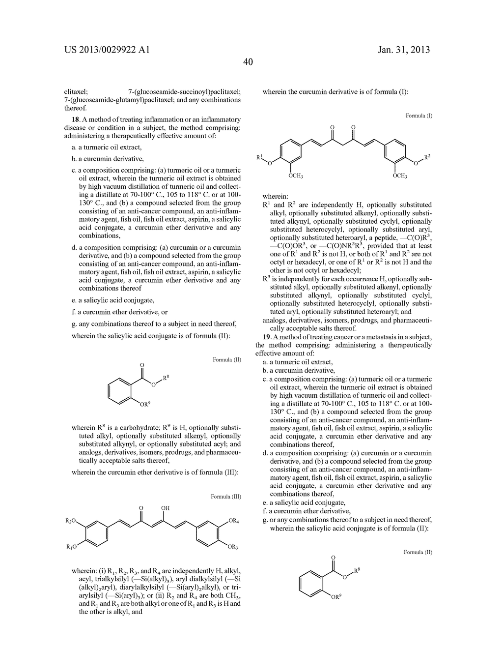 FORMULATIONS FROM NATURAL PRODUCTS, TURMERIC, PACLITAXEL, AND ASPIRIN - diagram, schematic, and image 94