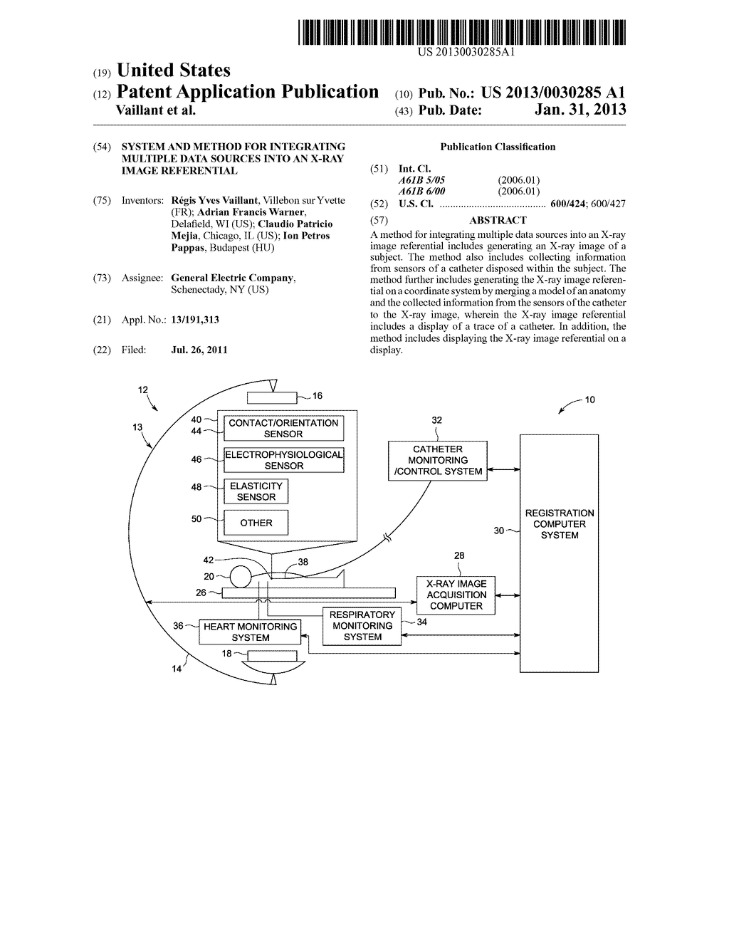 SYSTEM AND METHOD FOR INTEGRATING MULTIPLE DATA SOURCES INTO AN X-RAY     IMAGE REFERENTIAL - diagram, schematic, and image 01