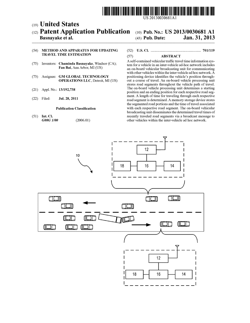 METHOD AND APPARATUS FOR UPDATING TRAVEL TIME ESTIMATION - diagram, schematic, and image 01