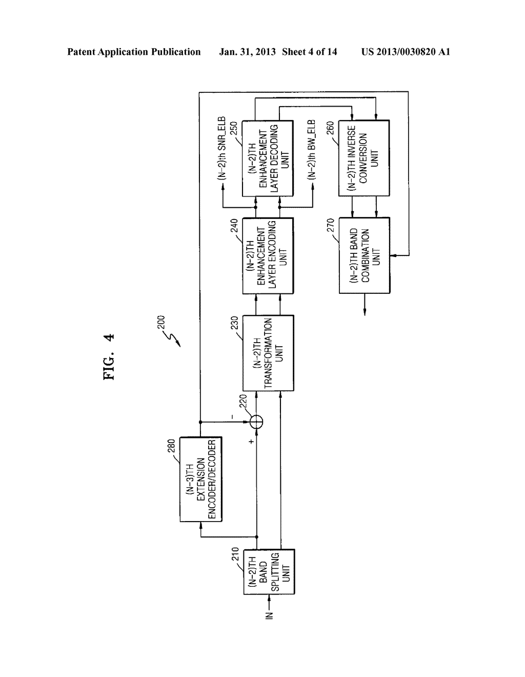METHOD, MEDIUM, AND SYSTEM SCALABLY ENCODING/DECODING AUDIO/SPEECH - diagram, schematic, and image 05
