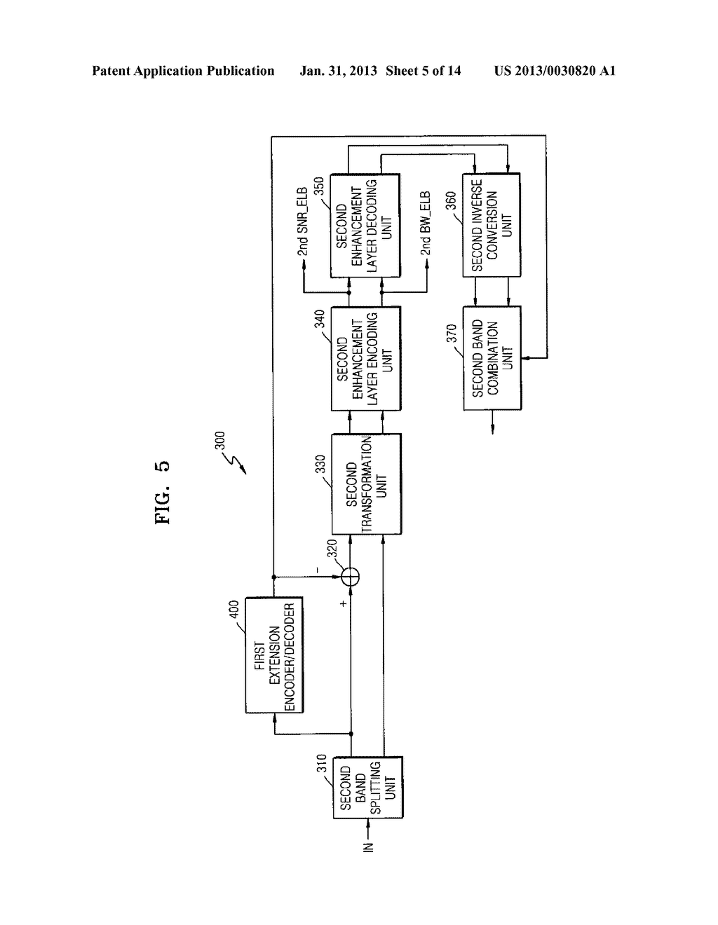 METHOD, MEDIUM, AND SYSTEM SCALABLY ENCODING/DECODING AUDIO/SPEECH - diagram, schematic, and image 06