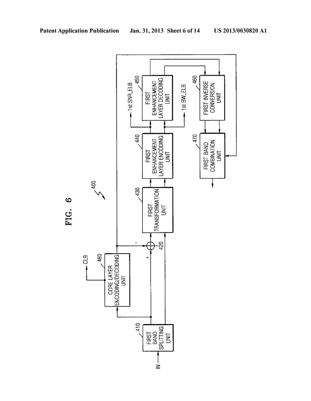 METHOD, MEDIUM, AND SYSTEM SCALABLY ENCODING/DECODING AUDIO/SPEECH - diagram, schematic, and image 07