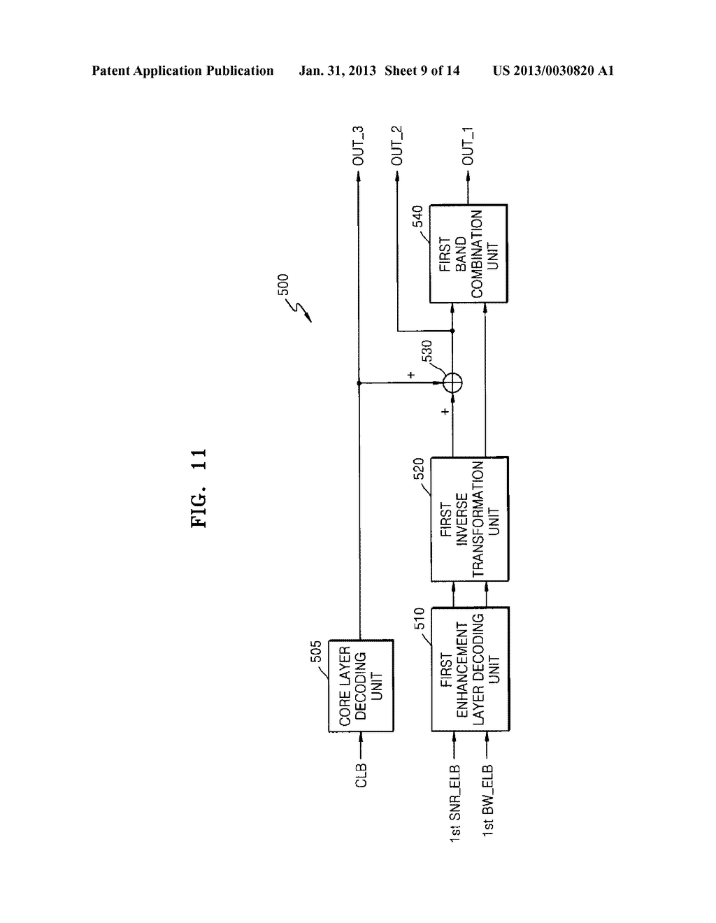 METHOD, MEDIUM, AND SYSTEM SCALABLY ENCODING/DECODING AUDIO/SPEECH - diagram, schematic, and image 10