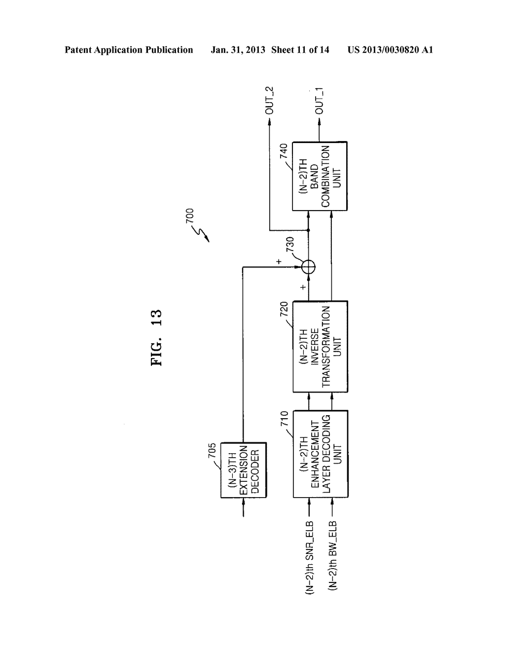METHOD, MEDIUM, AND SYSTEM SCALABLY ENCODING/DECODING AUDIO/SPEECH - diagram, schematic, and image 12