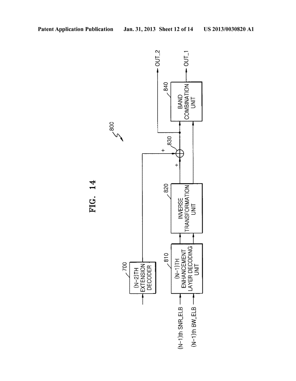 METHOD, MEDIUM, AND SYSTEM SCALABLY ENCODING/DECODING AUDIO/SPEECH - diagram, schematic, and image 13