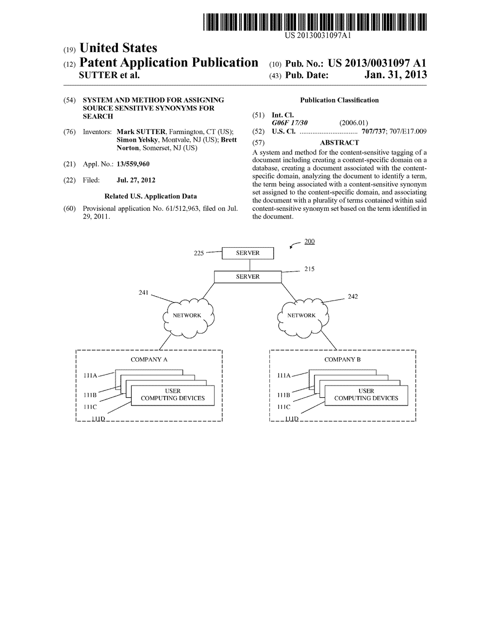 SYSTEM AND METHOD FOR ASSIGNING SOURCE SENSITIVE SYNONYMS FOR SEARCH - diagram, schematic, and image 01