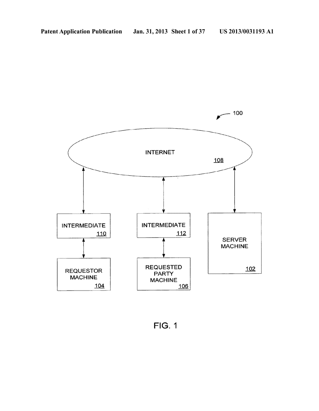 Method and System for Controlled Distribution of Information Over a     Network - diagram, schematic, and image 02