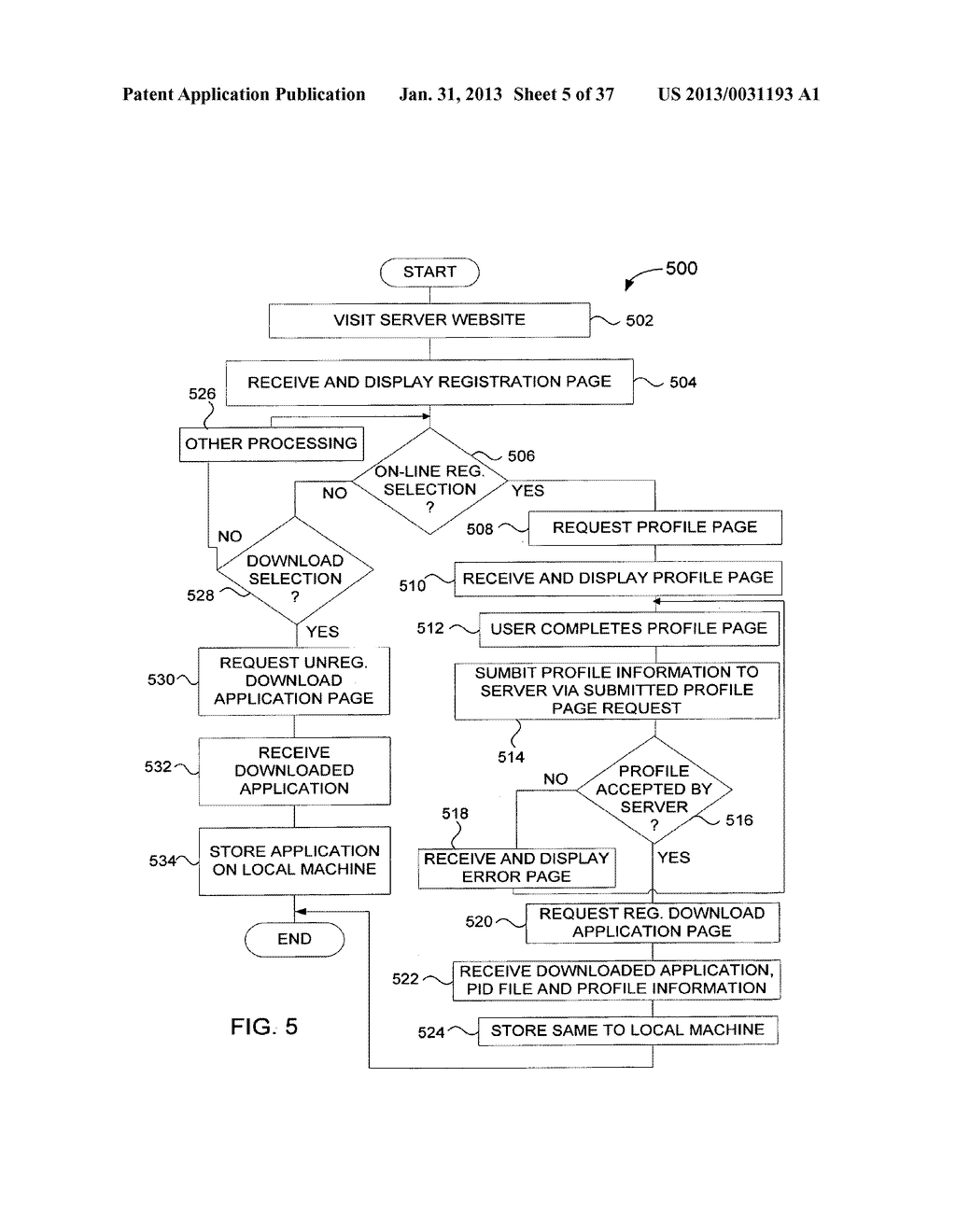 Method and System for Controlled Distribution of Information Over a     Network - diagram, schematic, and image 06
