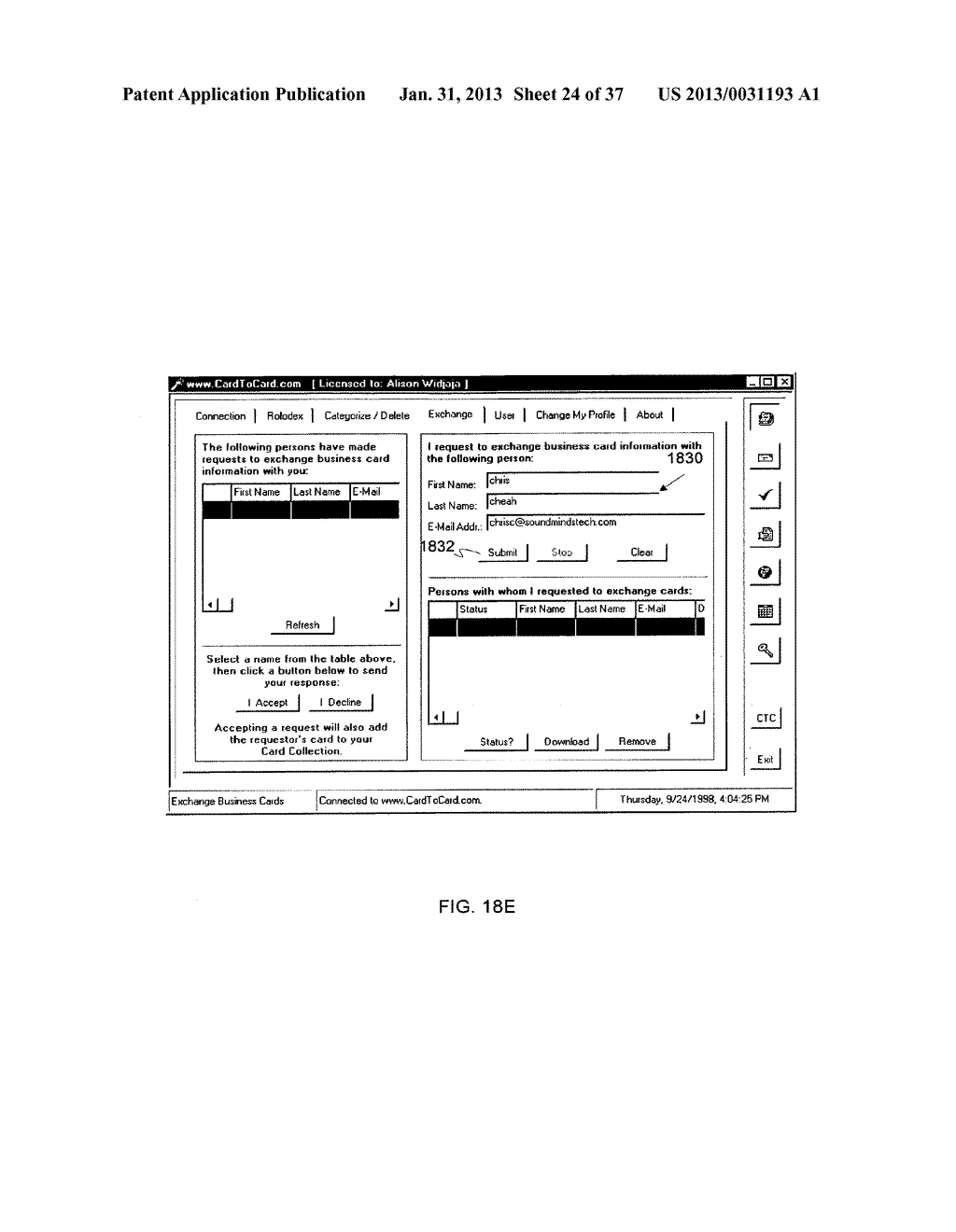 Method and System for Controlled Distribution of Information Over a     Network - diagram, schematic, and image 25