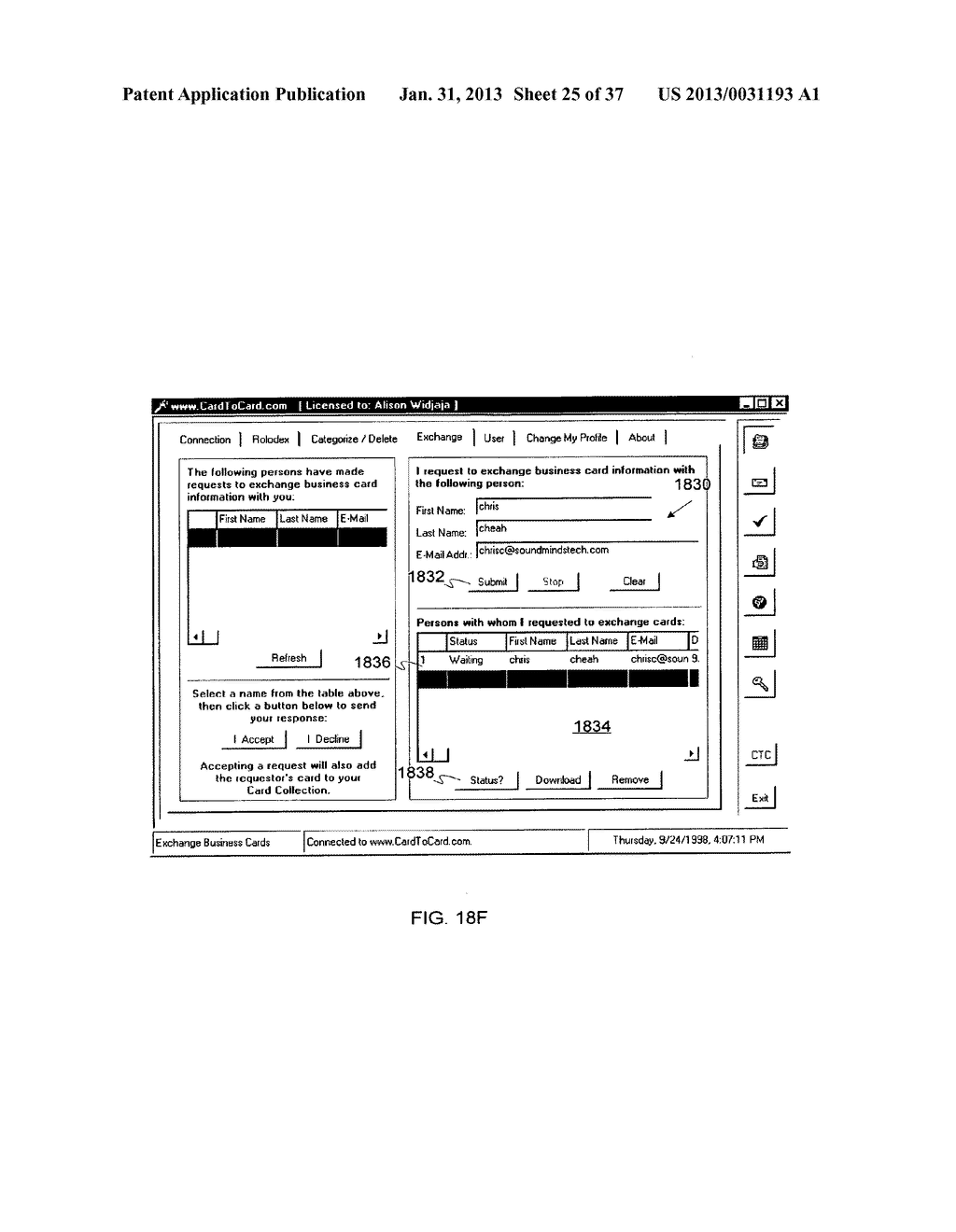 Method and System for Controlled Distribution of Information Over a     Network - diagram, schematic, and image 26
