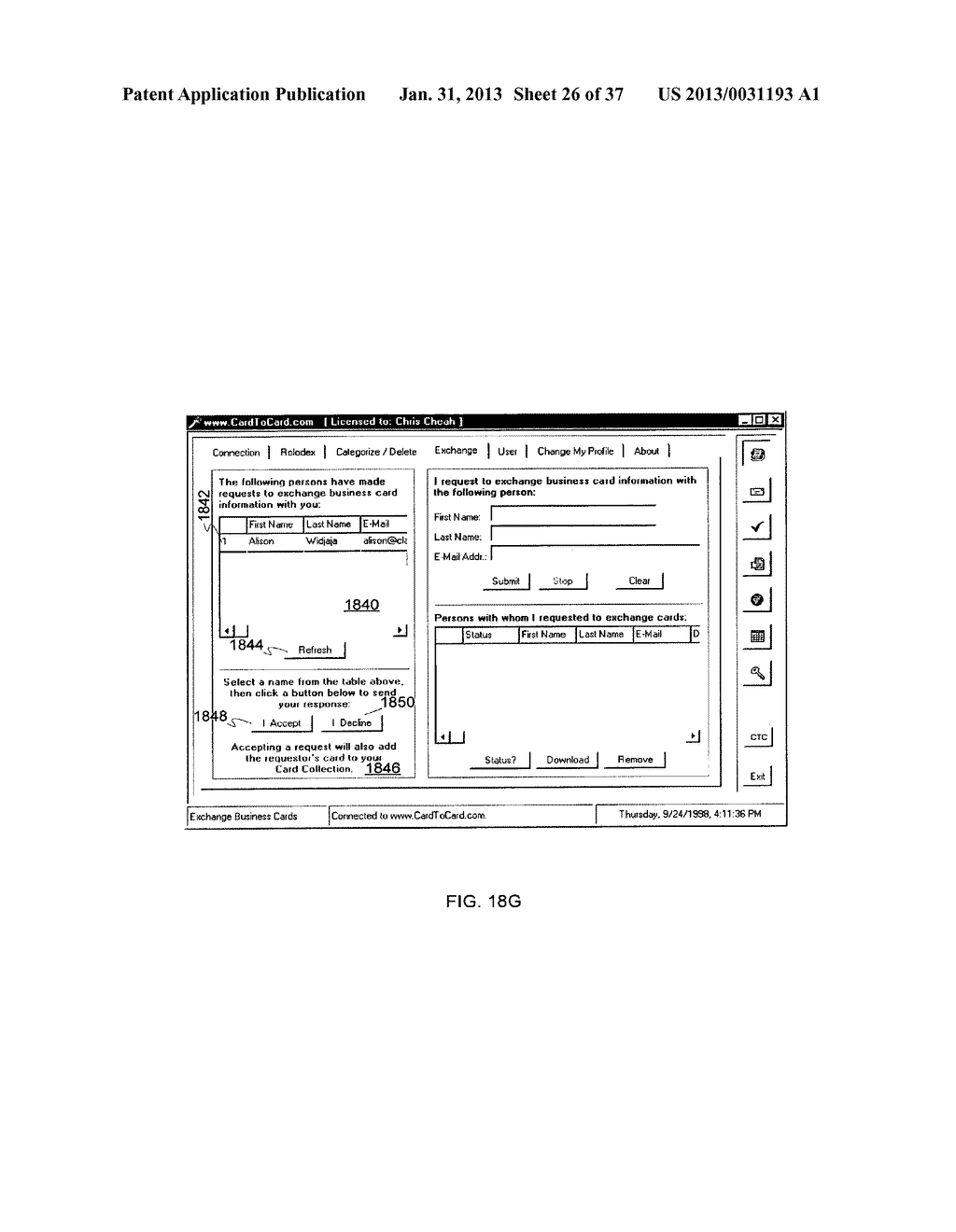 Method and System for Controlled Distribution of Information Over a     Network - diagram, schematic, and image 27