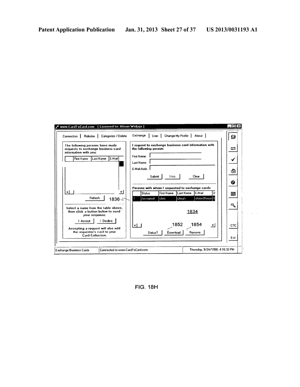 Method and System for Controlled Distribution of Information Over a     Network - diagram, schematic, and image 28
