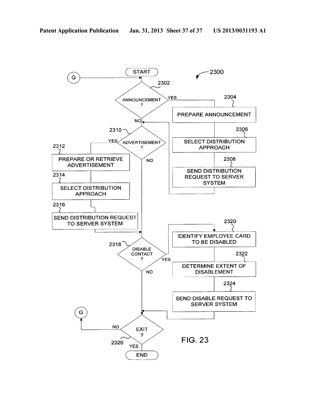 Method and System for Controlled Distribution of Information Over a     Network - diagram, schematic, and image 38