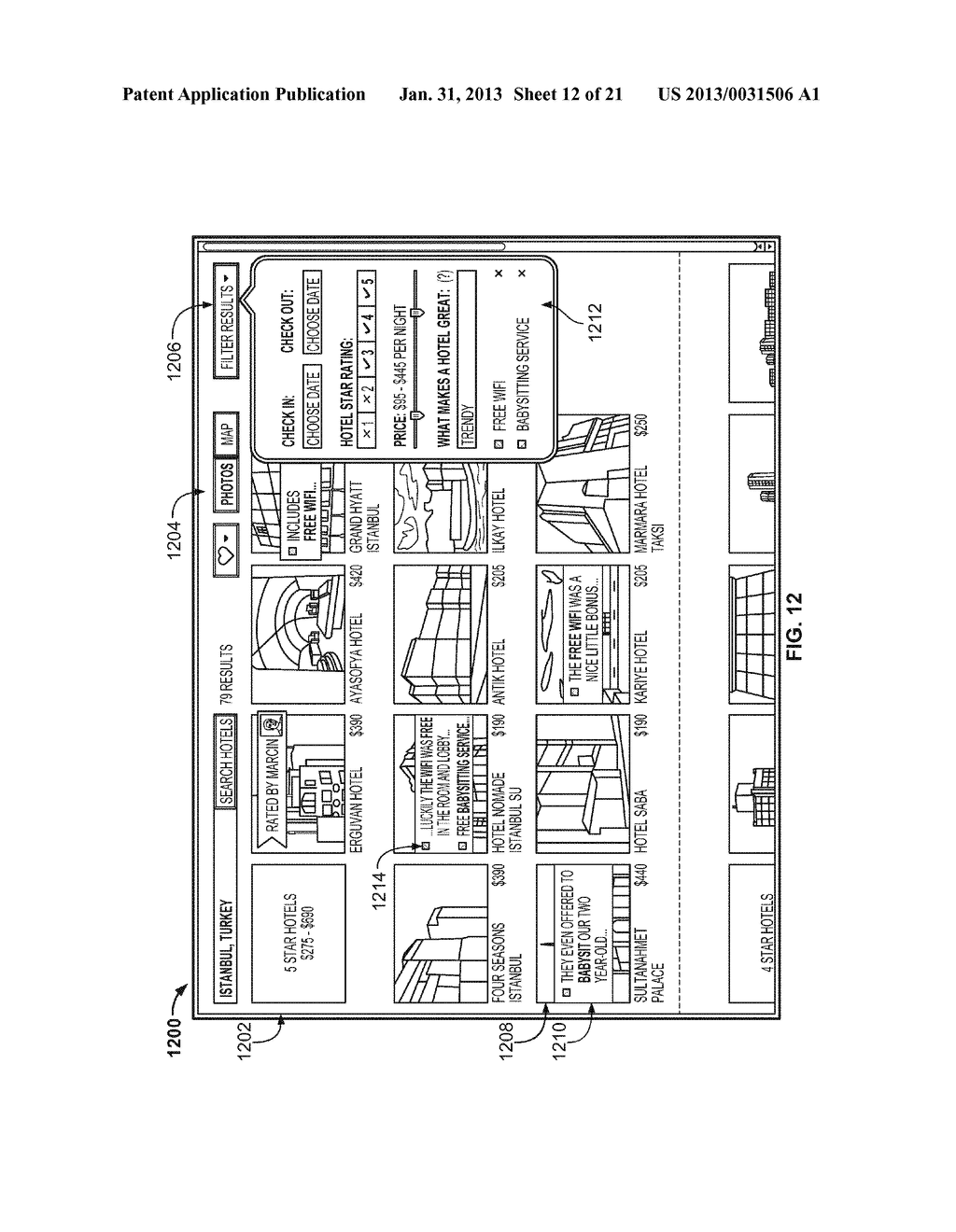 HOTEL RESULTS INTERFACE - diagram, schematic, and image 13