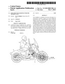 Knee-Mounted Air Deflector For Motorcyclist diagram and image