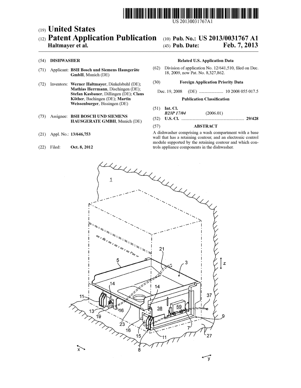 DISHWASHER - diagram, schematic, and image 01