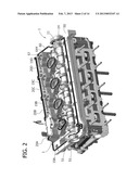 MULTI-CYLINDER INTERNAL COMBUSTION ENGINE WITH A SYSTEM FOR VARIABLE     ACTUATION OF THE INTAKE VALVES AND AN INJECTOR HOUSING HAVING A RAISED     SEALING EDGE diagram and image