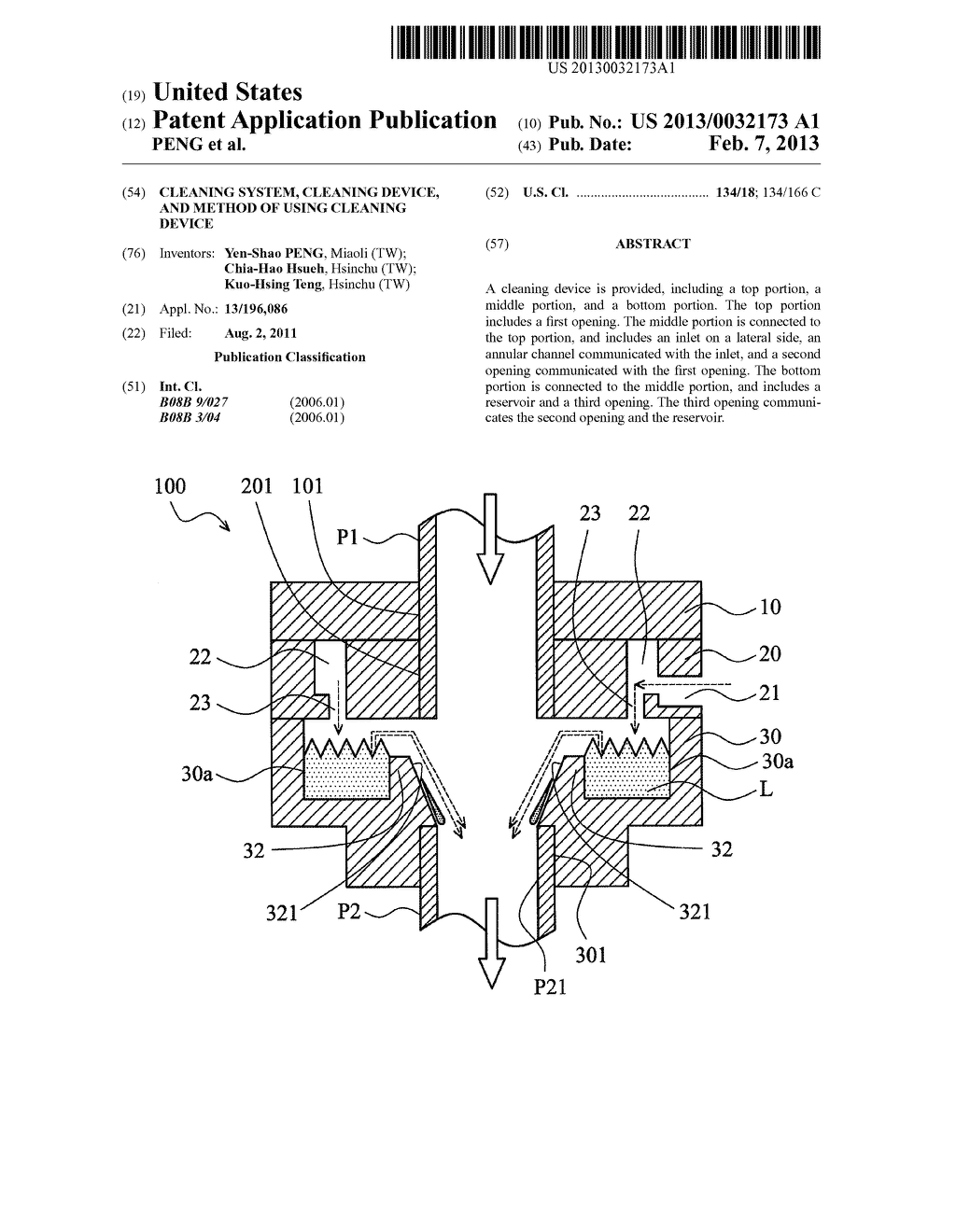 CLEANING SYSTEM, CLEANING DEVICE, AND METHOD OF USING CLEANING DEVICE - diagram, schematic, and image 01