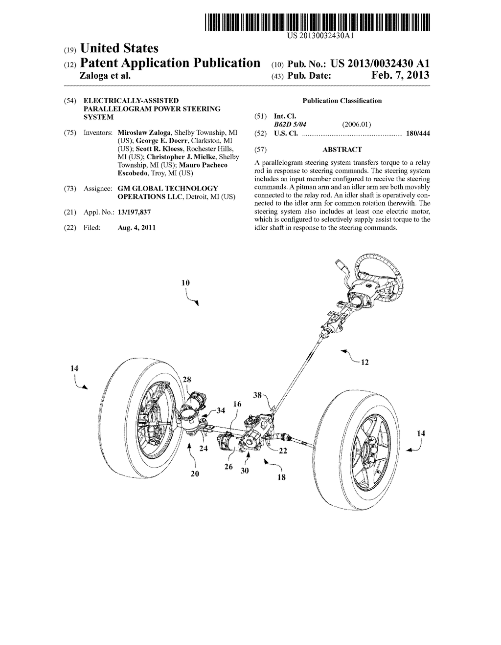 ELECTRICALLY-ASSISTED PARALLELOGRAM POWER STEERING SYSTEM - diagram, schematic, and image 01