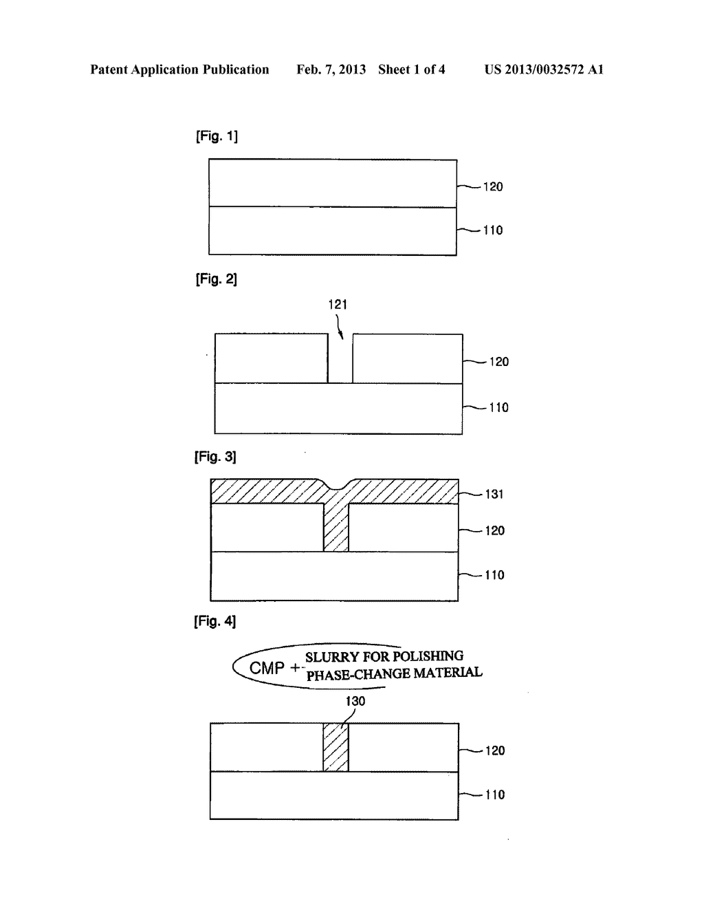 SLURRY FOR POLISHING PHASE-CHANGE MATERIALS AND METHOD FOR PRODUCING A     PHASE-CHANGE DEVICE USING SAME - diagram, schematic, and image 02