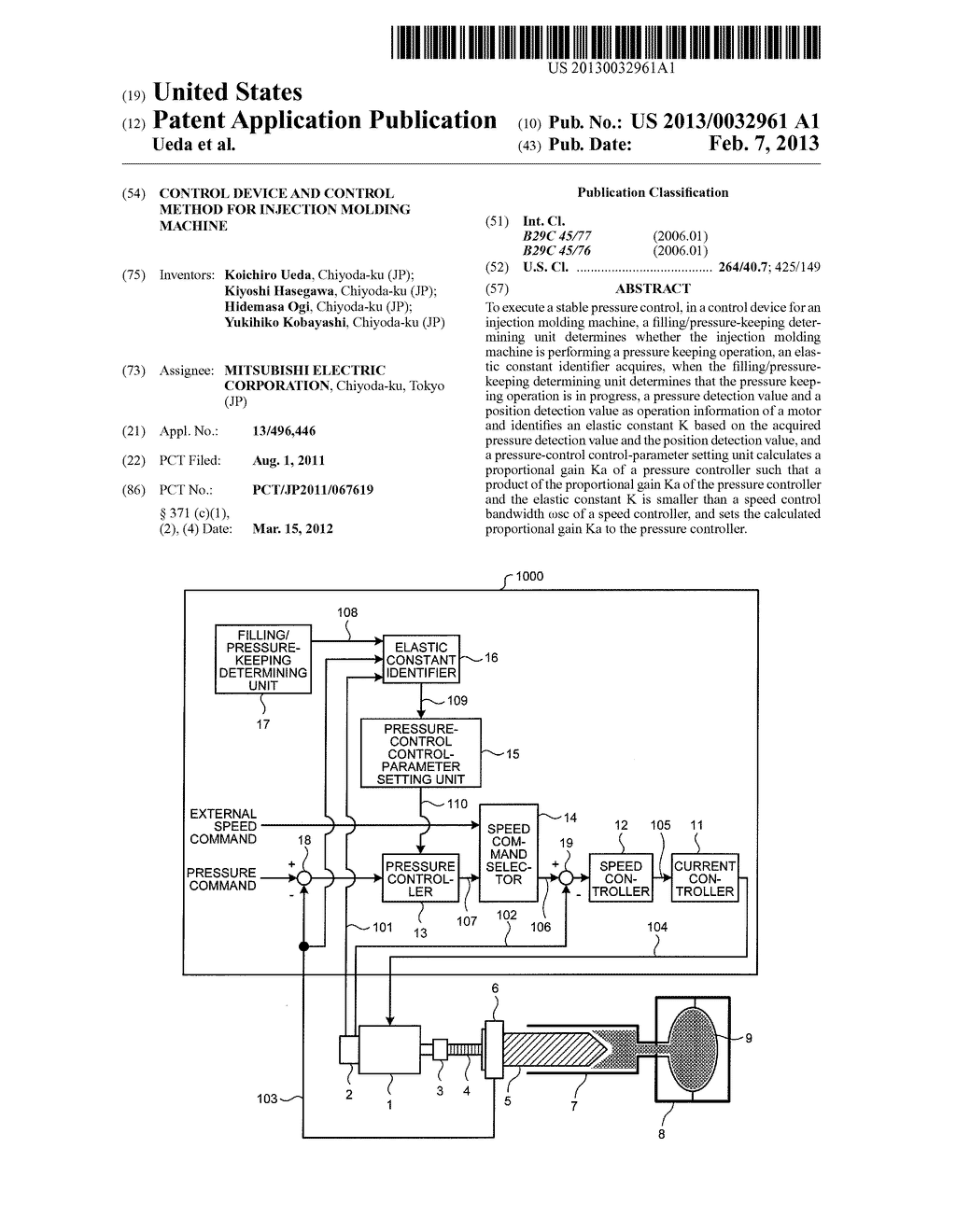 CONTROL DEVICE AND CONTROL METHOD FOR INJECTION MOLDING MACHINE - diagram, schematic, and image 01