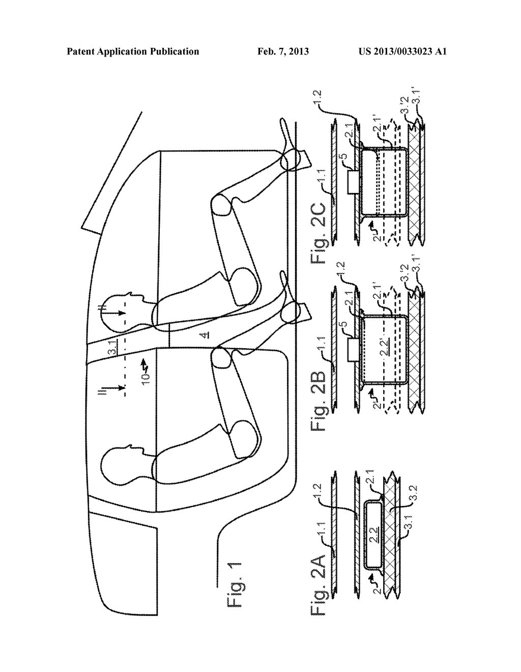 SAFETY DEVICE FOR A MOTOR VEHICLE - diagram, schematic, and image 02