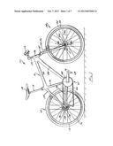 Bicycle Wheel Quick Release Assembly With Clockable Handle diagram and image