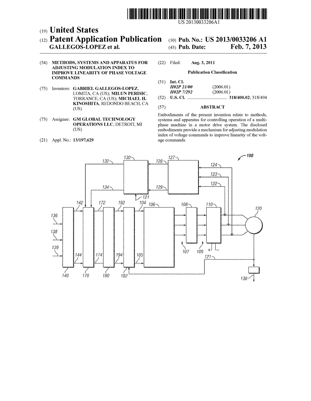 METHODS, SYSTEMS AND APPARATUS FOR ADJUSTING MODULATION INDEX TO IMPROVE     LINEARITY OF PHASE VOLTAGE COMMANDS - diagram, schematic, and image 01