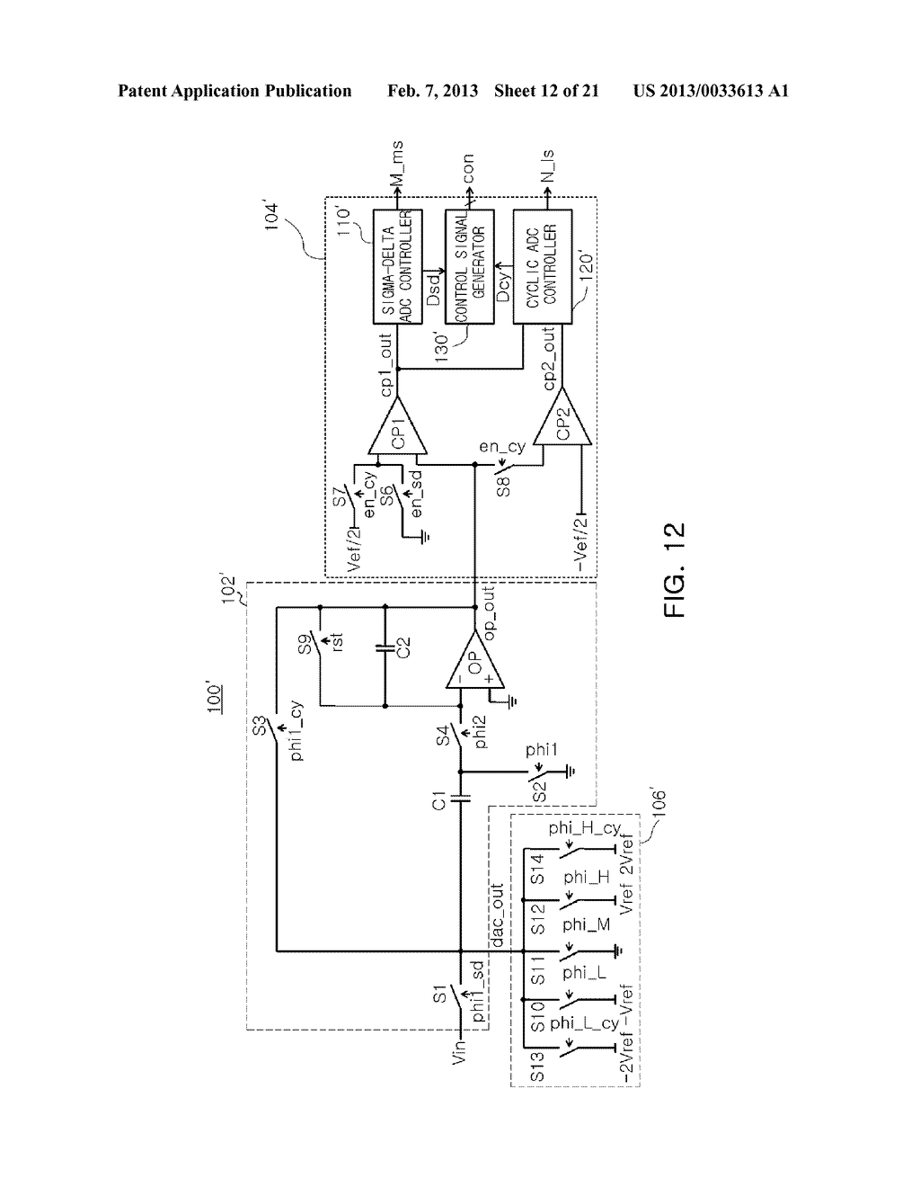 ANALOG-TO-DIGITAL CONVERTER, IMAGE SENSOR INCLUDING THE SAME, AND     APPARATUS INCLUDING IMAGE SENSOR - diagram, schematic, and image 13