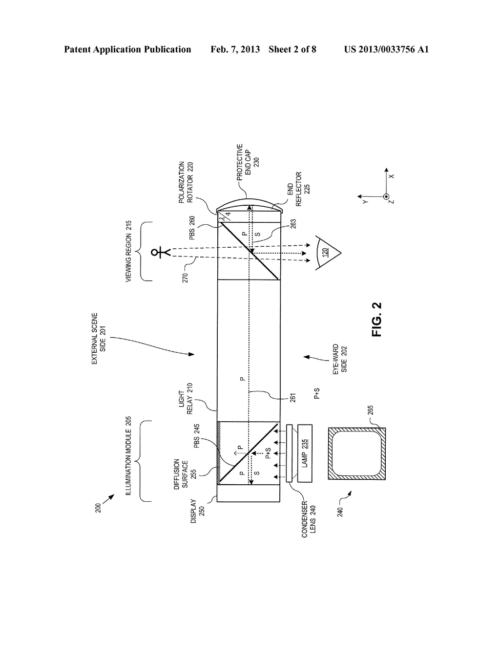 METHOD AND APPARATUS FOR A NEAR-TO-EYE DISPLAY - diagram, schematic, and image 03