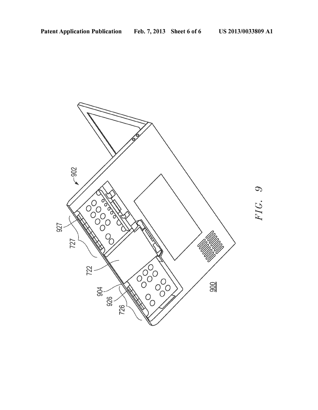 Portable Computing Device with Wireless Capability While in Folded     Position - diagram, schematic, and image 07