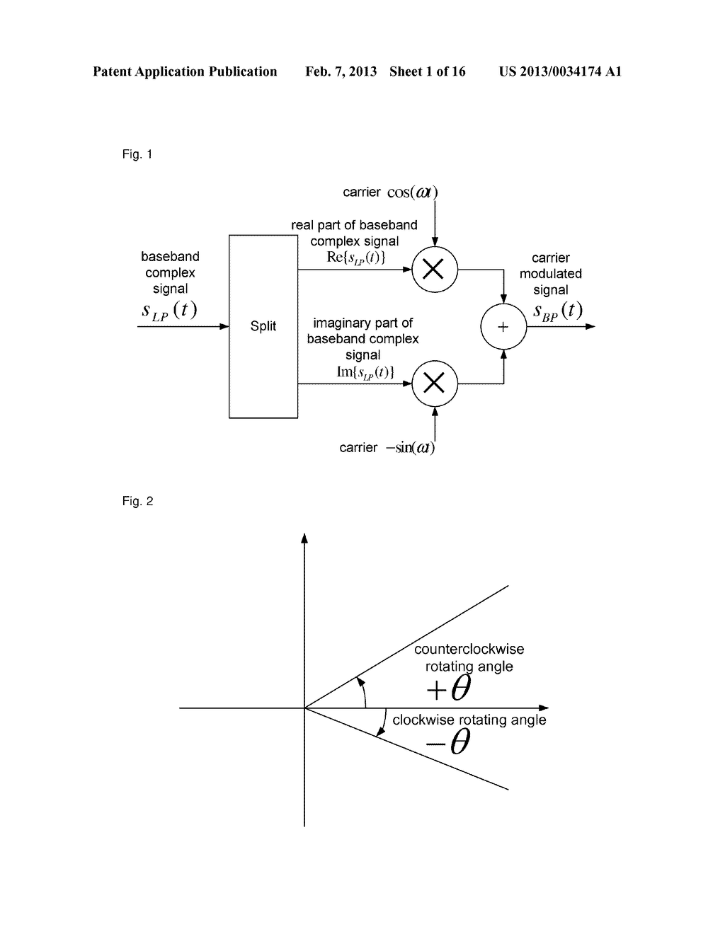 Method, device and system for complex carrier modulation - diagram, schematic, and image 02