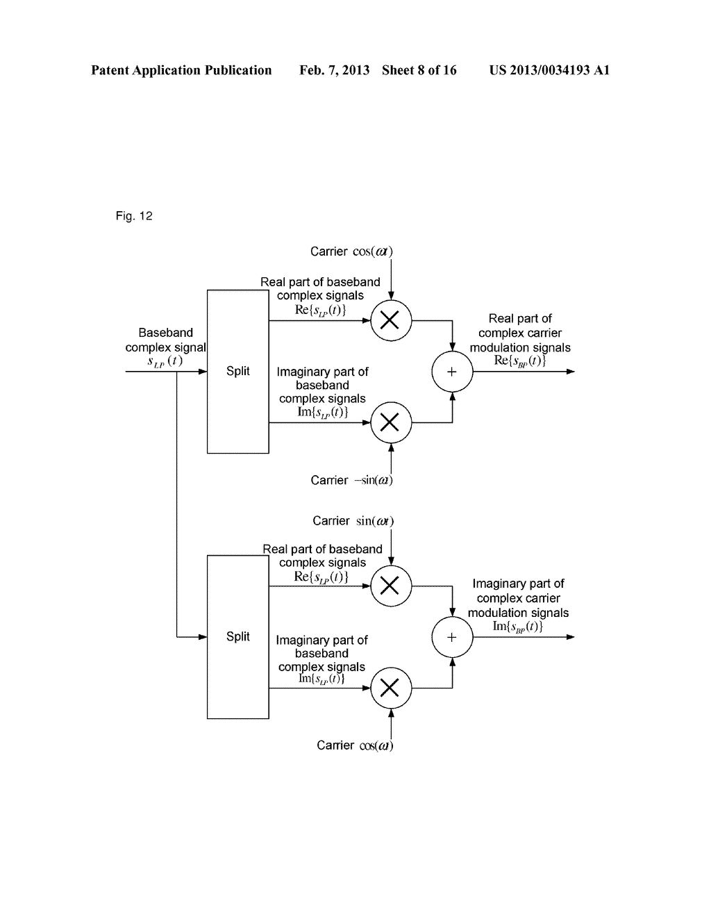 method and device for demodulating complex carriers - diagram, schematic, and image 09