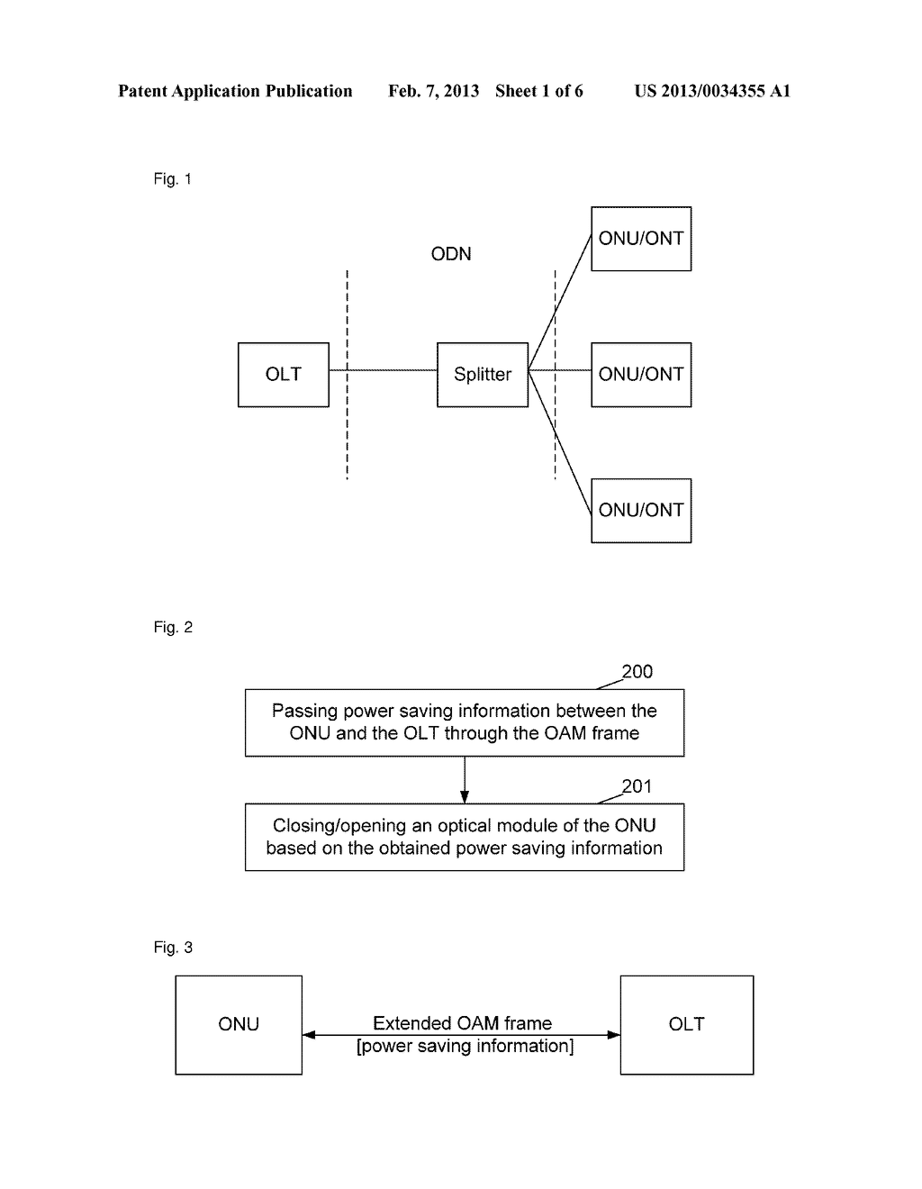 Method and system for realizing power saving mechanism management between     optical network unit (ONU) and optical line terminal (OLT) - diagram, schematic, and image 02